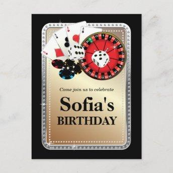 casino adult game birthday PostInvitation