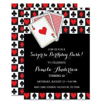 Casino Playing Invitation Birthday Invitation