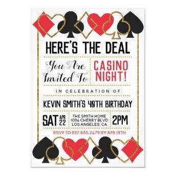 Casino Poker Invitation