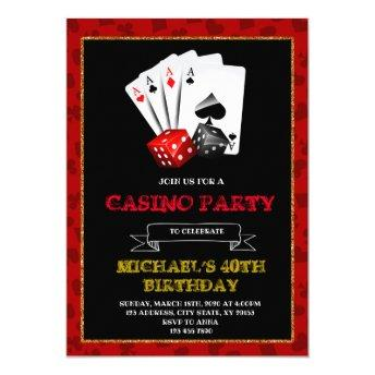 Casino royale party invitation