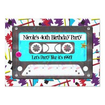 Cassette Tape Retro 80's 90's Theme Birthday Party