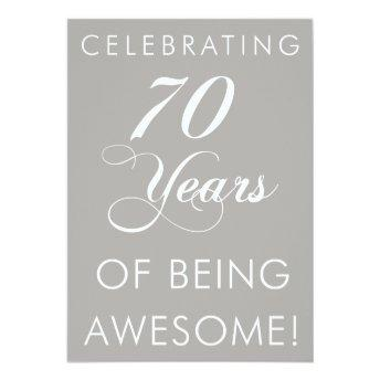 Celebrating 70 Years Of Being Awesome Invite