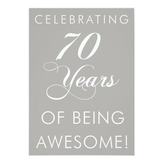 201 Celebrating 70 Years Of Being Awesome Invite