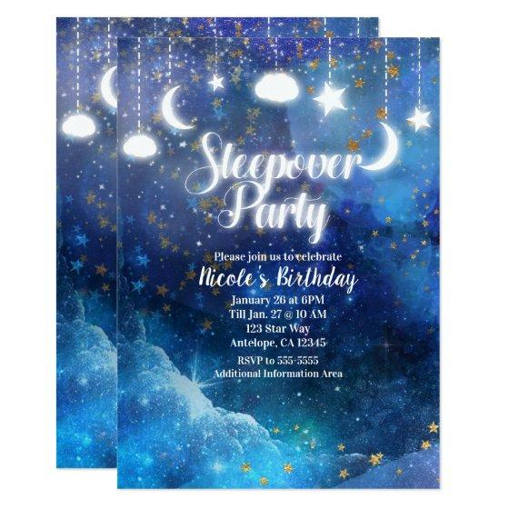 BIRTHDAY PARTY INVITATIONS Disco Glow Party Stars Personalised