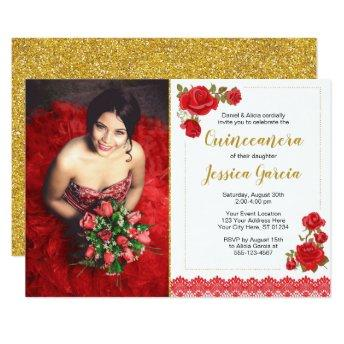 Charro Quinceañera Invitation | Roses and Lace