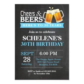 Cheers and Beers 30th Birthday
