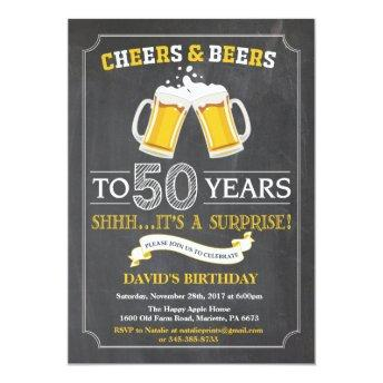 Cheers and Beers 50th Birthday