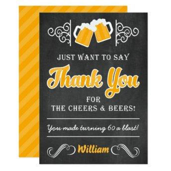 Cheers and Beers 60th Birthday Thank You