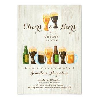 Cheers & Beer Birthday Party Invitation - Any Age