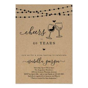 Cheers Wine Tasting Birthday Party - Any Age Invitation