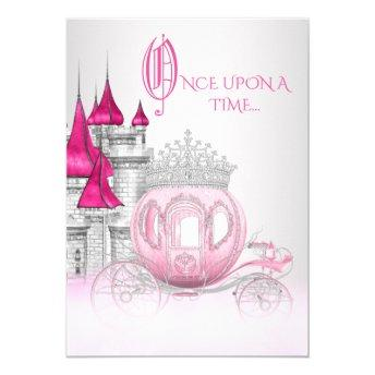 Cinderella Once Upon a Time Princess Birthday Invitation