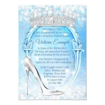 Cinderella Princess Glass Slipper Quinceanera Invitation