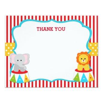 Circus Carnival Birthday Thank You Note