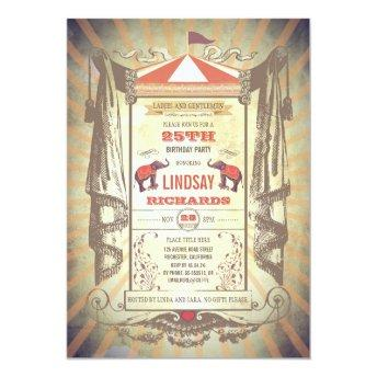 Circus or Vintage Carnival Birthday Party