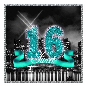 City Lights Sweet Sixteen Teal ID120