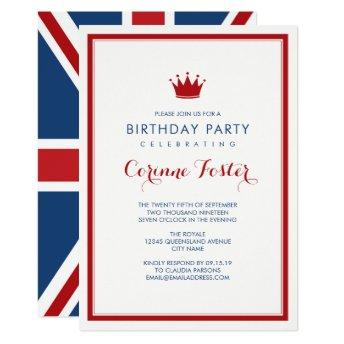 Classic Union Jack Flag Birthday
