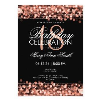 Classy 18th  Party Sparkles Rose Gold