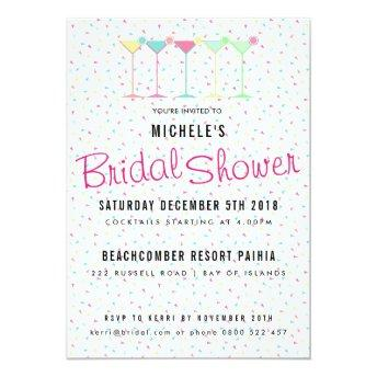Cocktail Party Bridal Shower Invitation