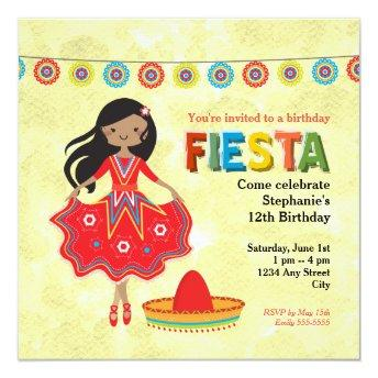 Colorful Mexican Fiesta Kids Birthday Party
