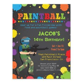 Colorful Paintball Birthday Party