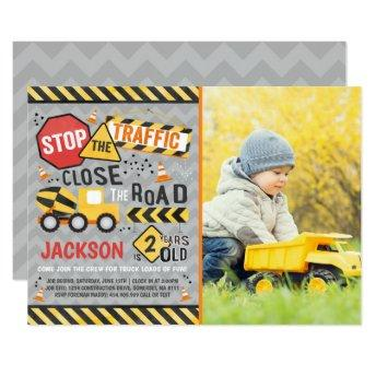 Construction Birthday Invitation Dump Truck Party