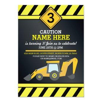 Construction Builder Digger Truck Birthday Party