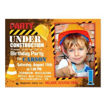 Construction Site Birthday Party