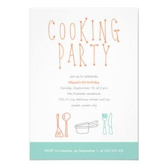 Cooking Party Birthday Kitchen Utensils Doodle 6th