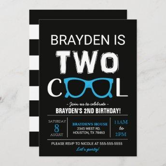 Cool Birthday Invitation | Black