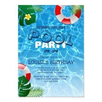 Cool Pool Party | Swimming Birthday Invitation