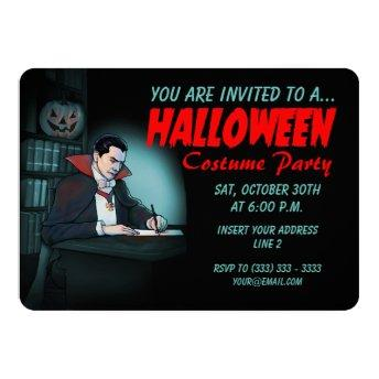 Count Dracula Invites for Halloween Party