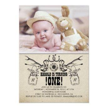 Country and Rustic 1 Birthday Photo