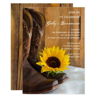 Country Sunflower Quinceanera Party