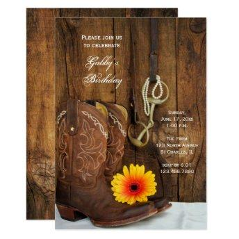 Cowboy Boots Daisy Country Western Birthday Party