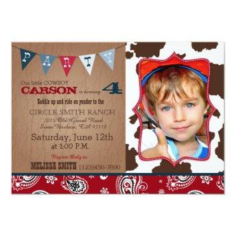 Cowboy Red Bandanna Western Theme Birthday