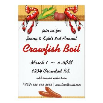 Crawfish Boil with Sausage Invitation