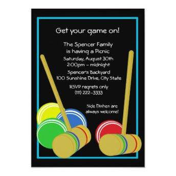 Croquet/ Picnic Invitation