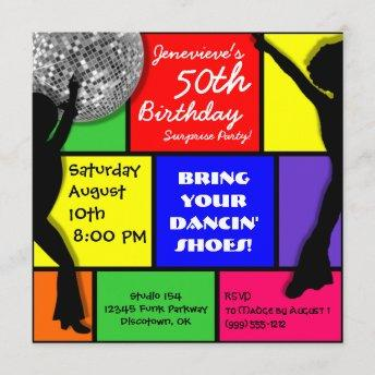 Custom Disco Birthday Party Invitation