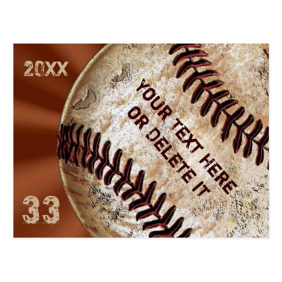 110 Custom Vintage Baseball Post Invitation