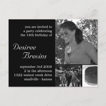 Customizable Birthday Invite Invitation Photo Invitation