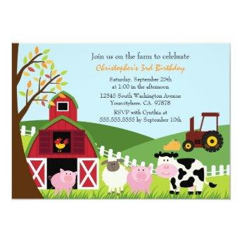 Cute farm animals barn birthday party