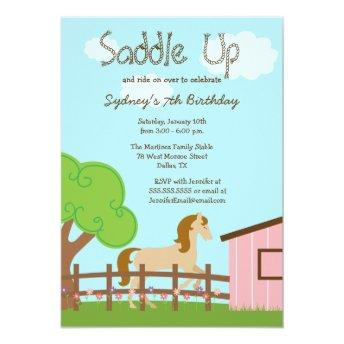 Cute girls horse birthday party