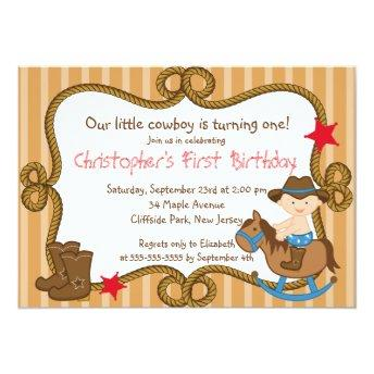 Cute Little Cowboy Birthday Party