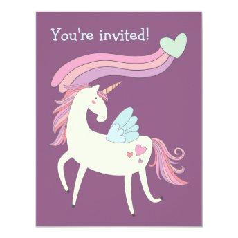 Cute Magical Unicorn Birthday Party
