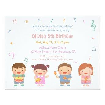 Cute Music Themed Kids Birthday Party