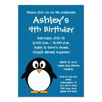 Cute Penguin Birthday Party