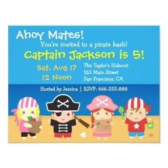 Cute Pirates Boys and Girls Birthday Party