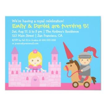 Cute Princess and Knight Birthday Party