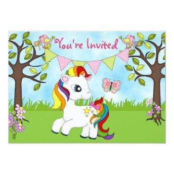 Cute Rainbow Pony Horse Birthday
