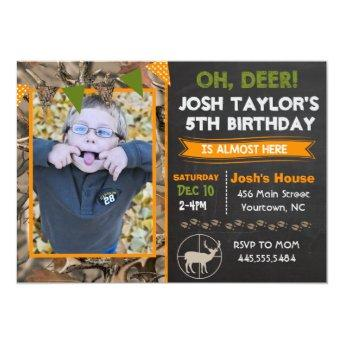 Deer Camo Hunting Birthday